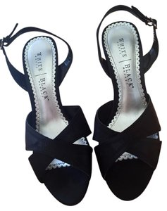 White House | Black Market Slingback Size 8 Satin Black Formal