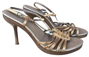 ALDO Strappy Studs Braided Ankle Strap Metallic Metallic Gold Sandals