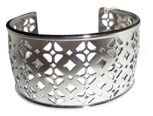 Fossil New! Fossil Brand Stainless Steel Iconic Signature Cut-Out Cuff Bracelet