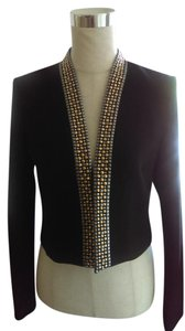 Calvin Klein Formal Embellished Rhinestone Black Jacket