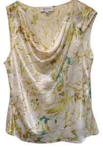 St. John Silk Top Cream/Colorful
