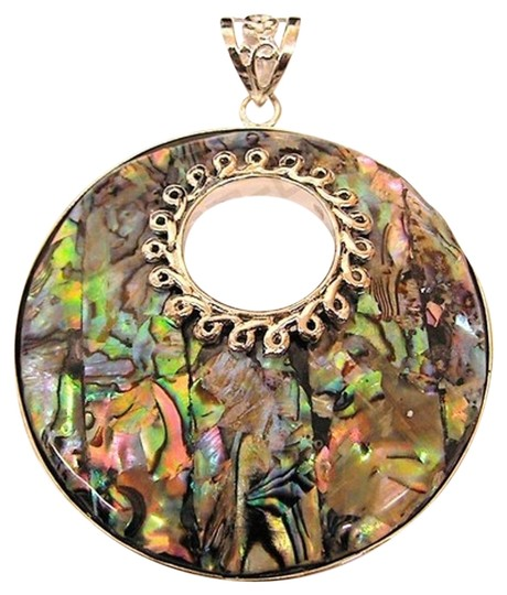 Preload https://item4.tradesy.com/images/multi-colored-shell-64x51mm-chrome-silver-plated-decorative-paua-pendant-charm-15965608-0-1.jpg?width=440&height=440