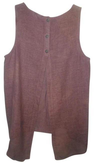 Preload https://img-static.tradesy.com/item/15965674/j-jill-brown-linen-sleeveless-button-down-top-size-12-l-0-2-650-650.jpg