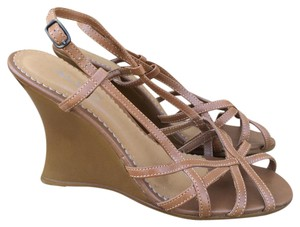 ALDO Strappy Sandals Straps Tan Wedges