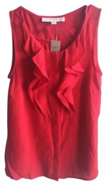 Preload https://img-static.tradesy.com/item/159657/ann-taylor-loft-red-blouse-size-petite-0-xxs-0-0-650-650.jpg