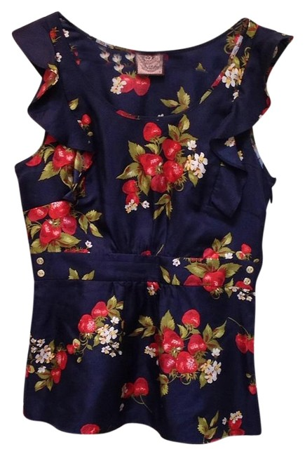 Preload https://item2.tradesy.com/images/juicy-couture-blue-with-strawberries-sleeveless-blouse-size-8-m-15965776-0-1.jpg?width=400&height=650