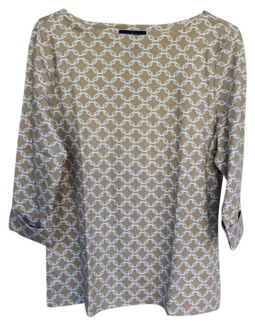 Preload https://img-static.tradesy.com/item/15965782/karen-scott-taupe-and-white-blouse-size-16-xl-plus-0x-0-1-650-650.jpg