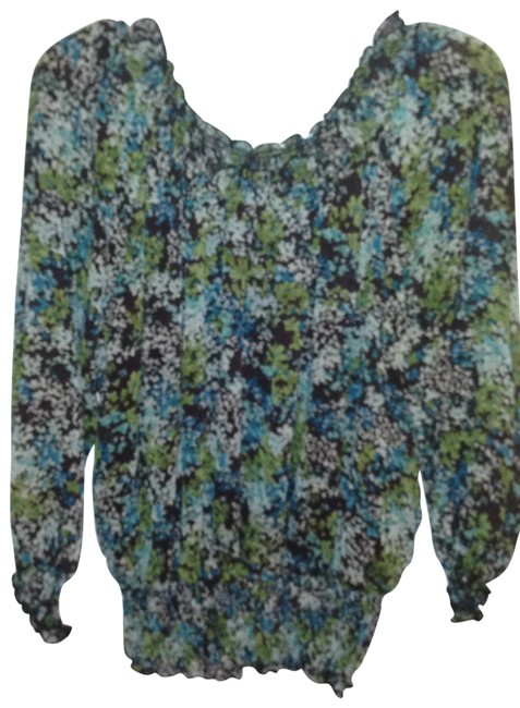 Preload https://img-static.tradesy.com/item/15966/cato-green-and-brown-blouse-size-16-xl-plus-0x-0-0-650-650.jpg