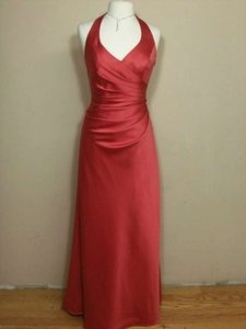 Alfred Angelo Spice Satin 7130 Formal Bridesmaid/Mob Dress Size 10 (M)