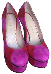 Charlotte Olympia Red & pink Platforms