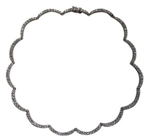 Lord & Taylor scalloped rhinestone necklace