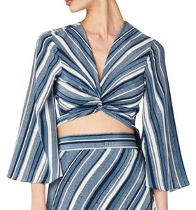 Sam & Lavi Top Blue & White Stripes