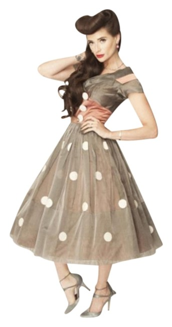 Preload https://img-static.tradesy.com/item/15966763/grey-white-and-dusty-pink-50-s-polka-dot-full-skirt-mid-length-formal-dress-size-4-s-0-1-650-650.jpg