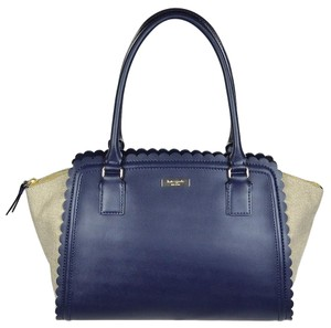 Kate Spade Lilac Road Satchel in navy/natural
