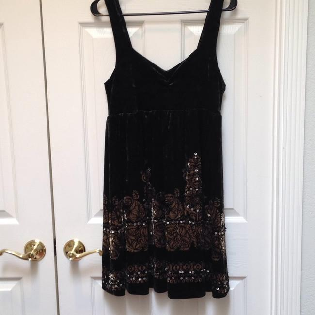 Free People Velvet Embellished Sleeveless Sequin Dress