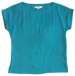 Ann Taylor LOFT Sexy Teal Date Night Going Out Top