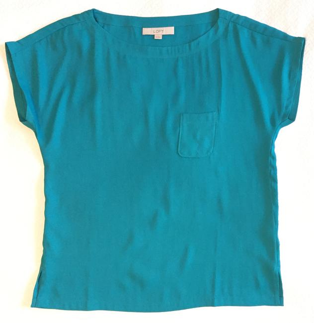 Ann Taylor LOFT Sexy Teal Date Going Top