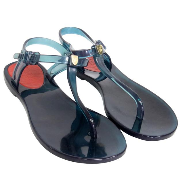 Item - Blue Jelly Signature Summer Thong T Strap Sold Out 36 Sandals Size US 6 Regular (M, B)