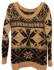 American Eagle Outfitters Winter Snow Wool Print Sweater