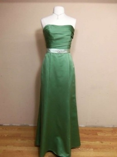 Alfred Angelo Clover/Lettuce Satin 7134 Formal Bridesmaid/Mob Dress Size 10 (M)