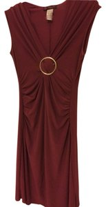 Nordstrom Evening Silver Hardware Stretchy Formal Ruching Dress