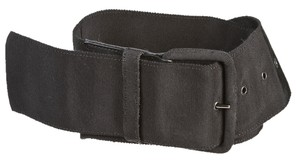 Dries van Noten Dries Van Noten Black Nylon and Leather Belt (Size 75)