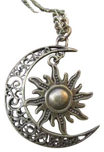 Bronze Moon Sun Necklace. Moon Necklace.