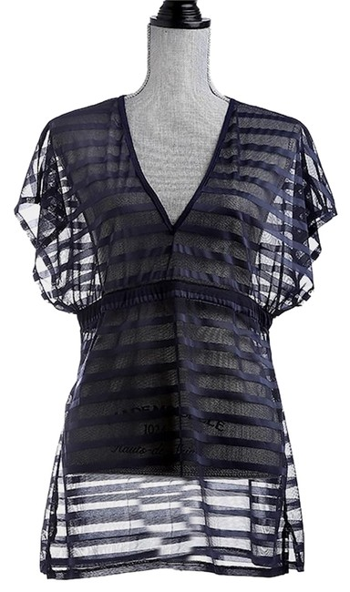 Preload https://item3.tradesy.com/images/blue-navy-coverup-beach-pool-dress-tunic-size-os-one-size-15967627-0-1.jpg?width=400&height=650