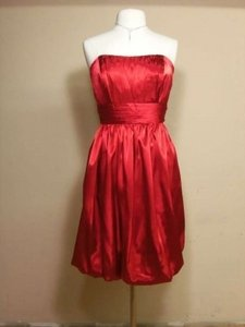 Alfred Angelo Crimson Charmeuse 7136 Formal Bridesmaid/Mob Dress Size 14 (L)