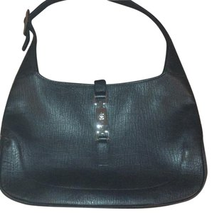 Gucci Leather Metal Accents Hobo Bag