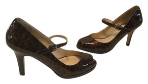 Cole Haan All Leather Padded Insoles Tortoiseshell patent Pumps