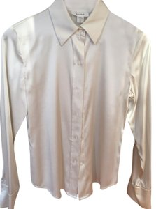 Kate Hill Womens Silk Top Ivory