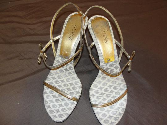 Guess By Marciano Gold/Beige/white Sandals