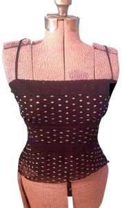 MCM Adjustable Straps Sheer Two Layers Top Black