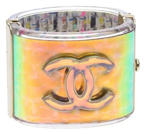 Chanel Chanel Multicolor Acrylic Hologram Cuff