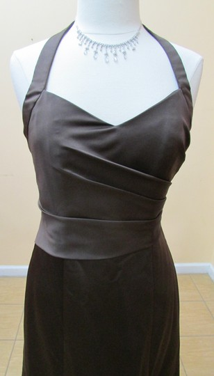 Alfred Angelo Espresso Satin 7142 Formal Bridesmaid/Mob Dress Size 10 (M)