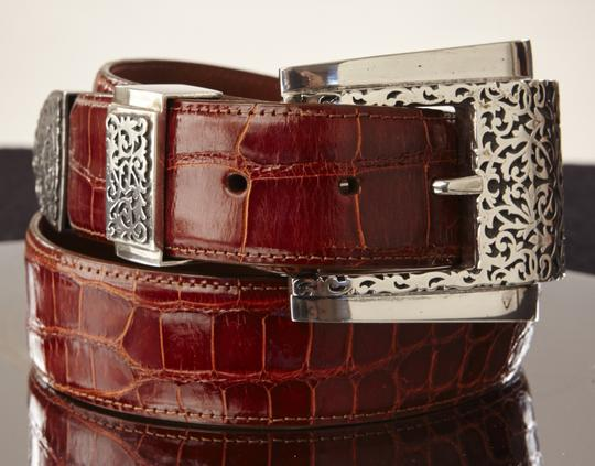 Kokopelli Kokopelli Alligator Belt with Silver Buckel Set