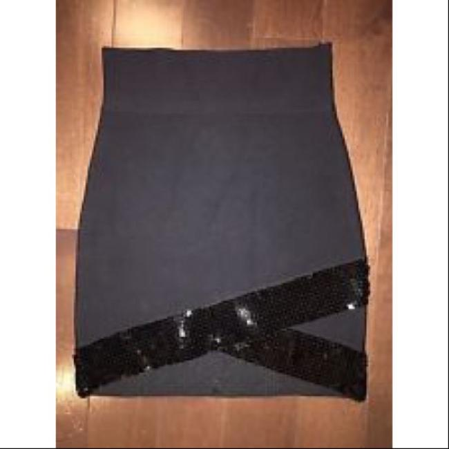 BCBGMAXAZRIA Mini Skirt Black Image 1