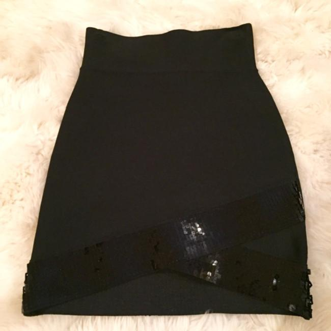 BCBGMAXAZRIA Mini Skirt Black Image 2