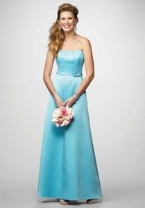 Alfred Angelo Pool Satin 7169 Formal Bridesmaid/Mob Dress Size 8 (M)
