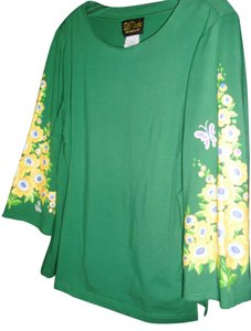 Bob Mackie Top emerald green