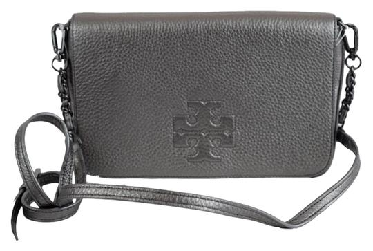 Preload https://item2.tradesy.com/images/tory-burch-thea-foldover-clutch-gunmetal-pebbled-leather-cross-body-bag-15969946-0-1.jpg?width=440&height=440