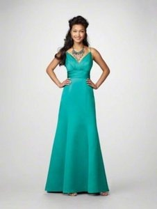 Alfred Angelo Jade Satin 7170 Formal Bridesmaid/Mob Dress Size 12 (L)