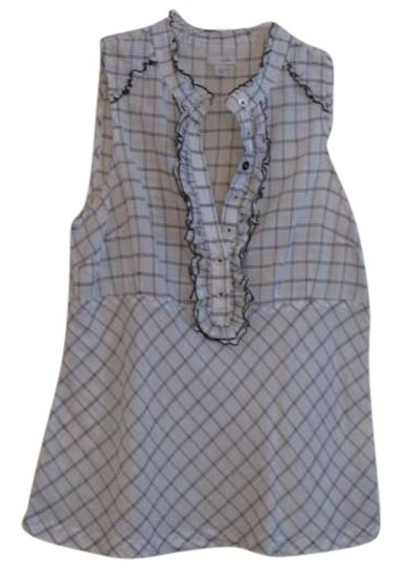 Preload https://item5.tradesy.com/images/anthropologie-white-and-black-odille-for-button-down-top-size-6-s-159704-0-0.jpg?width=400&height=650