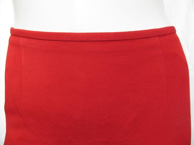 Lafayette 148 New York Office Small 6 Usa Lipstick Bright Hot 4 Skirt red