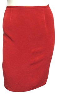 Lafayette 148 New York Office Small 6 S Usa Lipstick Red Bright Hot 4 Skirt