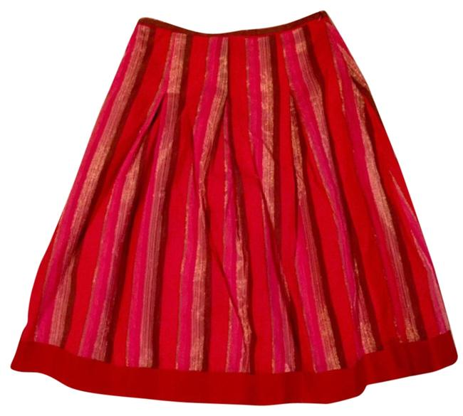 Preload https://item5.tradesy.com/images/reiss-reds-pinks-browns-and-gold-knee-length-skirt-size-2-xs-26-15970594-0-1.jpg?width=400&height=650