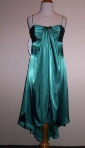 Alfred Angelo Lagoon Charmeuse 7174 Formal Bridesmaid/Mob Dress Size 12 (L)