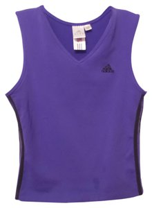 adidas Three Stripe Sleeveless Workout Yoga Top Size L