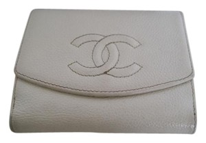 Chanel CHANEL Logo Caviar Leather CC Logo Small Wallet